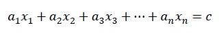 exemplo de equação linear
